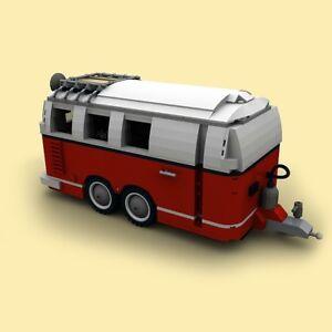 moc lego instruction caravane double essieux vw combi t1 (instruction seulement)
