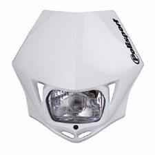 Polisport MMX Headlight White Motorcycle Dirt Bike Dual Sport Enduro DOT