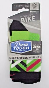 NEW Darn Tough 1785 Bike Merino Wool Ultra-Light Micro Crew Green Women's Socks