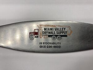 Zippo letter opener advertising Miami Valley Drywall Supply Stainless Steel