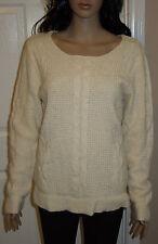 Cherokee Ivory Sweater Scoop Neck Pullover Size M Medium (Silk/Angora Blend)