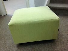 Footstool / Small Box Stool / Pouffe /Gift /lime green linen look  British Made
