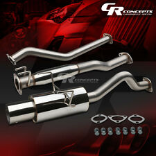 """4"""" MUFFLER TIP CATBACK EXHAUST+SILENCER SYSTEM FOR 02-06 ACURA RSX NON-S K20A3"""
