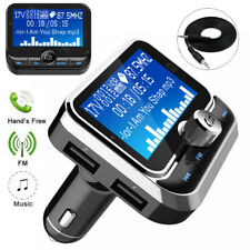 Bluetooth FM Transmitter Radio MP3 Player With 2 USB Fast Car Charger Handsfree