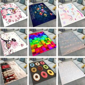 Abstract Christmas Unicorn Kids Play Carpet Floor Living Room Yoga Mat Area Rugs