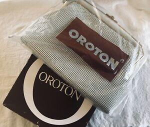 VINTAGE OROTON CREAM / IVORY GLOMESH EVENING BAG WEST GERMANY: ORIGINAL BOX