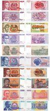 YUGOSLAVIA - Lotto 10 banconote 10/50/100/500/1000/5000/10000/5,50,500mln FDSUNC