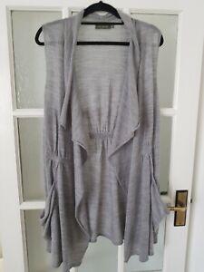 MINT VELVET merino wool  watefall open front  long cardigan size 16