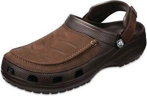 CROCS Yukon Vista ll Clogs Shoes Espresso Brown leather size 15