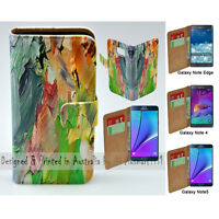For Samsung Galaxy Note Series Oil Paint Print Wallet Mobile Phone Case Cover