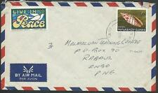 PAPUA NEW GUINEA 1971 cover TARI cds with cinderellas......................59717