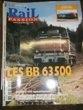 Rail Passion N°63 2002 BB63500 BB61000 Tram Train Aulnay Bondy CFF Cargo Train