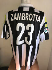 ZAMBROTTA JUVENTUS AS ROMA LOTTO MATCH WORN ISSUE SHIRT MAGLIA INDOSSATA