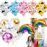 Rainbow Foil Latex Confetti Birthday Wedding Party Baby Shower Helium Balloons