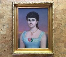 Fine Late 19th Century Painting Portrait of Young Woman, Mystery Artist 1 of 2