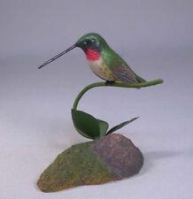 Ruby-throated Hummingbird Original Bird Carving/Birdhug