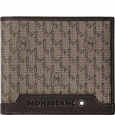 Portafoglio Leather Wallet Montblanc Signature 8cc scomparti 111112 nuovo beige