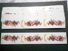 "Mrs Grossman DESIGN LINES Border Sticker Lot 10 Sheets Spring Garland DL 12""x2"""