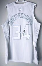 Giannis Antetokounmpo Autographed Bucks Signed Authentic MVP Tribute Jersey JSA