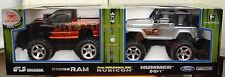 MIB New Bright 2-Pack Radio Control Jeep Wrangler Rubicon & Dodge Ram Truck