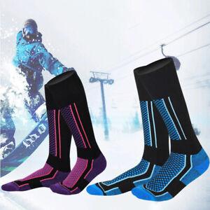 Unisex Waterproof Thick Warm Breathable Knee High Sports Ski Plaid Socks Winter