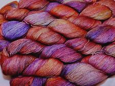 ARCHANGEL Purple+Orange 1 Skein Malabrigo SILKPACA Baby Alpaca & Silk LACE YARN
