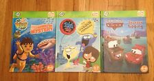 Lot/3 Leap Frog Tag Books Go Diego Golden Paddleball Tractor Tipping Pixar Cars
