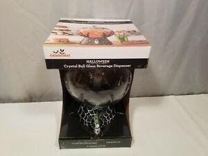 New Halloween Way To Celebrate 2.1 Gallon Crystal Ball Glass Beverage Dispenser