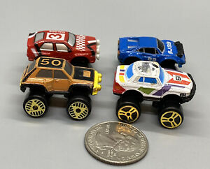 Micro Machines Turbo Wheels #3 Collection Set Of 4, 1989 Galoob