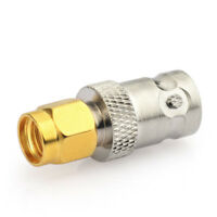 BNC Jack to RP SMA Plug female pin straight Audio RF Coaxial adapter connector