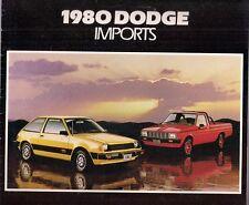 Dodge Colt Challenger D-50 1980 USA Market Brochure Mirage Sigma Sapporo L200