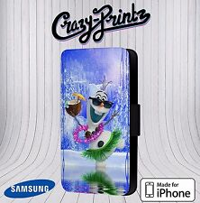 Olaf Frozen Cool fits iPhone / Samsung Leather Flip Case Cover X15