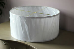"""18"""" Lamps Plus Toby Lamp Shade White Fabric Spider Fitter Drum"""