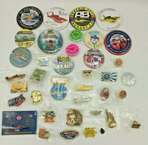 <Lot of 39> Seafair Hydroplane Racing Buttons, Pins & Collectibles Rare Vintage