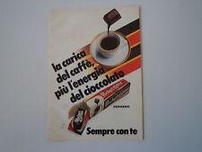 advertising Pubblicità 1984 FERRERO POCKET COFFEE