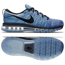Nike Flyknit Air Max 620469-104 White/Blue/Concord/Black Men's Shoes Size 10