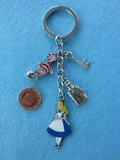 Alice in Wonderland Cheshire Cat Keyring Enamel Bag Charm Birthday Gift # 16