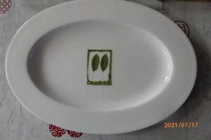 1x Dibbern Fine Bone China Fleisch - Gemüseplatte,Herbaticum ca.34,5 x 24,5 cm