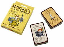 Munchkin 3: Clerical Errors Card Game Expansion From Steve Jackson Games