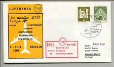 FFC 1966 Lufthansa PRIMO VOLO LH 368 Boeing B727 - Berlino Lisbona