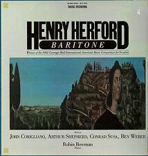CLASSICAL LP HENRY HERFORD BARITONE ROBIN BOWMAN PIANO