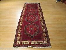 11 Feet 4x11 Runner Persian Tribal Vegetable Dye Handmade-Knotted Rug Wool 637