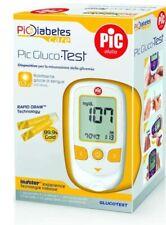 PIC GLUCO TEST Misuratore glicemia Glucometro + 10 strisce + 10 pungidito