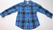 Baby Boy Toddler 3T GYMBOREE Blue Button Up Front Shirt Long Sleeve Kids