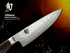 Japanese Shun Premier Chef's Knife 150mm Damascus Gyutoh Cutlery Kai Cookware