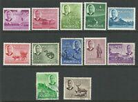 MAURITIUS - 1950 KHvi PICTORIALS short set - HM/FU - Scott# 235/246 - MAU 118
