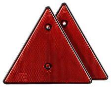 2x Dreieck Reflektor mit E-Zeichen Dreieckrückstrahler Anschrauben Anhänger