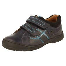 Chaussures bleus avec boucle en cuir pour garçon de 2 à 16 ans