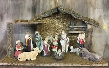 Complete Traditional Nativity Set 11 Figures Stable Christmas Holy Ornament 8993