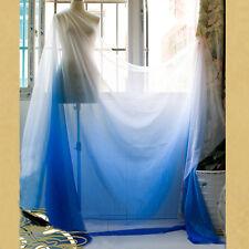 2 Yds 30D Imitate Silk Gauze Fabric Blue White shade Chiffon Dancing Dress Cloth